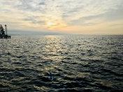 Caspian Sea at sunrise