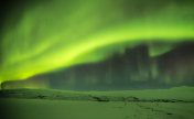 Beautiful aurora borealis in Iceland, shot in early winter period
