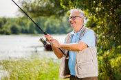 Fishing at river