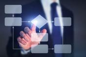 business flowchart, work process concept