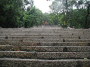 Stairs up to the pagoda