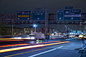 Traffic Light Trails at George Washington Bridge