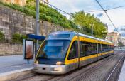 Tram of the Porto Metro system - Portugal