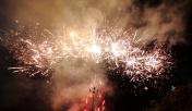 Fireworks Display and smoke