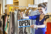 Successful small business owner in boutique