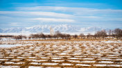 Winter in the Iranian northern province called Zanjan and the Iranian mountains covered with snow