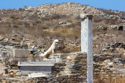 Lions of the Naxos in Delos, Greece