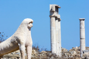 Lions of the Naxians in Delos, Greece