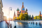 St. Basil's Cathedral and the morning sun