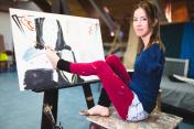 Disabled artist woman