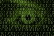 Eye in binary code