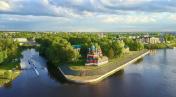 The Uglich Kremlin - aerial view
