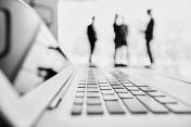 Cooperation behind laptop