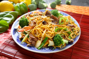 Beef broccoli Chow Mein