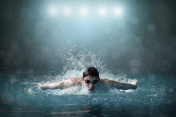 Swimmer in waterpool