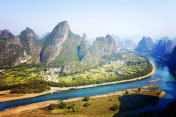 The scenery of guilin, yangshuo, in China