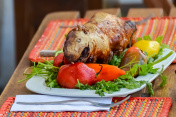 Guinea pig roasted, traditional meal in Peru.jpg