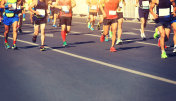 Marathon running race