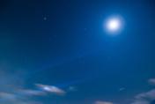 Moving sky night time