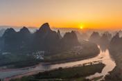 Sunrise Landscape of Guilin