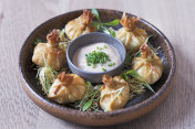 Crab Wonton with Spicy Mayo
