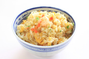 bowl of shrimp fried rice
