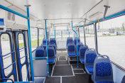 Internal view of an empty bus