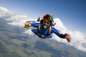 Royalty Free Stock Photo: Hot Dog Skydiver