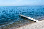 Clear water of Lake Baikal in Listvianka, Siberia, Russia