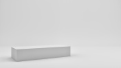 Cube in gray photo studio