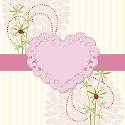 Springtime Love Card with Flower
