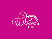 Elegant pink color card design for women's day