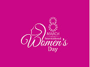 Pink color creative background design for women's day