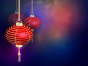 The Chinese new year. Postcard Chinese New Year Lantern