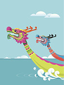 Dragon boat festival background