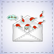 Envelope With Christmas stickers