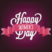 Creative 3D Text Happy Women's Day with glossy Pink Ribbon.