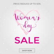 Discount card design - International Happy Women's Day