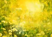 Summer sun, watercolor painting