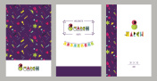 8 march international women`s day invitation cards.