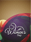 Colorful elegant background design for women's day
