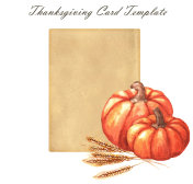 Thanksgiving day - greeting card template