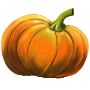 Illustration of a pumpkin.