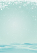 winter background with snow and snowflake