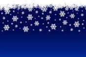 Snowfall, snowflake with blue background
