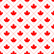 Canadian maple leaf symbol pattern