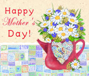 Happy Mother`s day. Congratulations card.