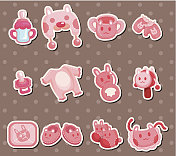 pink baby stuff stickers