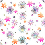 snow and flower pattern
