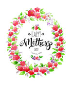 Happy Mother's Day Card with elegant lettering
